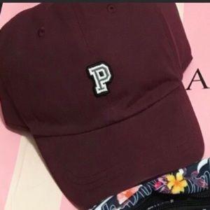 VS PINK HAT BASEBALL RED CAP P LOGO ADJUSTABLE